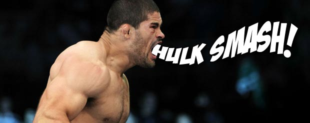 In a moment of sheer irony, Rousimar Palhares broke HIS foot during the TUF Smashes finale