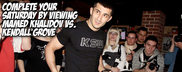 Complete your Saturday night by viewing Mamed Khalidov Vs. Kendall Grove