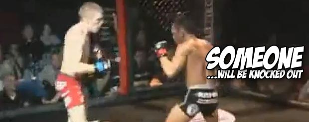 Could this be MMA's first hook kick knockout?