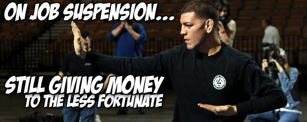 Watch Nick Diaz give a stack of money to a homeless man without a ribcage