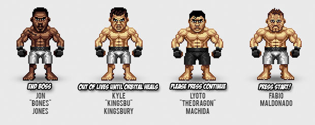 These 16-bit representations of MMA fighters are charming as hell