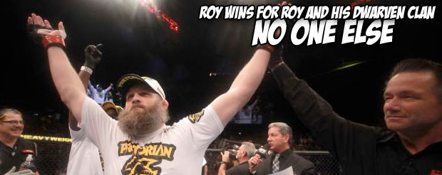 An ornery Roy Nelson answers questions about Matt Mitrione, but only barely