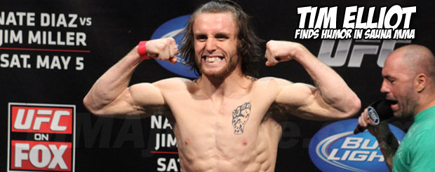 Before their TUF 16 finale weigh-in, Jared Papazian challenged Tim Elliot to Sauna MMAa