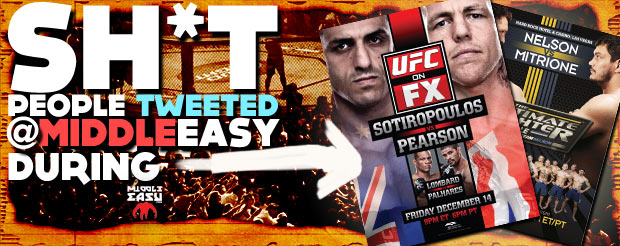 Sh*t people tweeted @MiddleEasy during TUF Smashes and TUF 16 finale