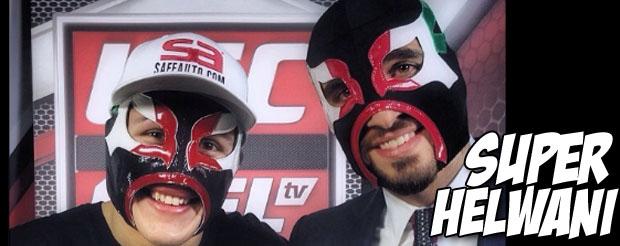 Erik Perez and Ariel Helwani feel like superheroes in their nifty luchador masks