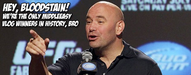 Hey, Dana White's new vlog is out and he finally pays Joe Lauzon for beating up Nick the Tooth
