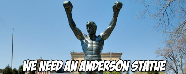 Anderson Silva is nothing like Rocky Balboa, but if he was, this is what it would look like