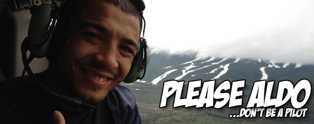 Jose Aldo is bad at motorcycling, but great at fighting