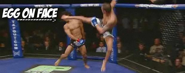 Bored? Not anymore, watch Anthony Pettis high kick a flying egg
