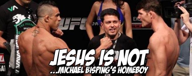 Watch Michael Bisping tell Vitor Belfort that Jesus isn't real