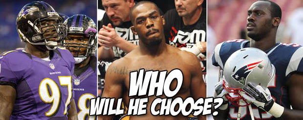 Jon Bones Jones has made his pick to win this weekend's AFC Championship game between the Ravens and Patriots