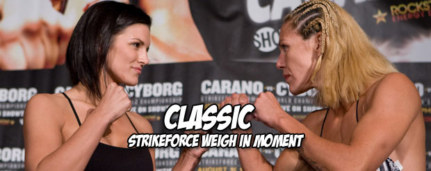 Feast your eyes on the FINAL Strikeforce weigh ins ever, right here at 5PM EST, 2PM PST