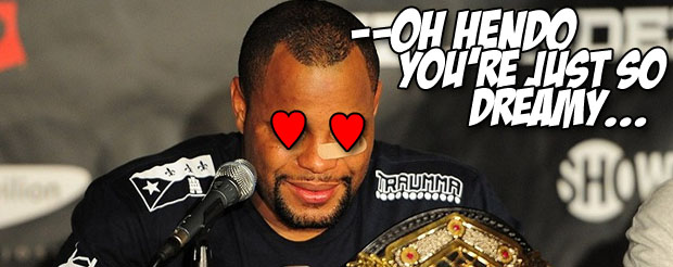 Daniel Cormier is not afraid to admit he has a man crush on Hendo