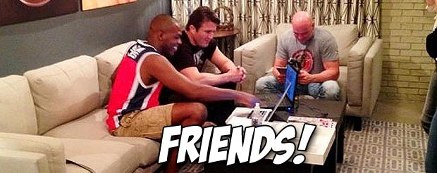 Watch Chael Sonnen and Jon Jones have a friendly discussion about the developments in the MMA world