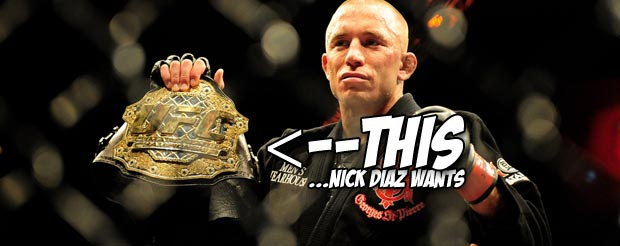 Georges St. Pierre is preparing for UFC 158 by doing backflips and tumbling, your move Nick Diaz