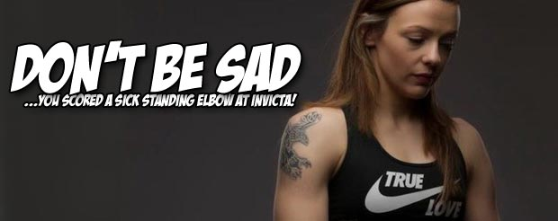 Let's not forget Joanne Calderwood's sneaky standing elbow at Invicta FC 4