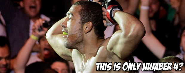 The UFC compiled their top ten favorite moments from 2012 into a handy video