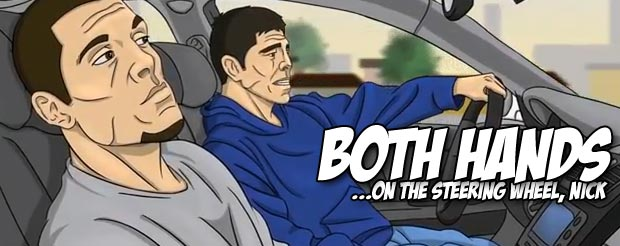 This cartoon of the Diaz brothers being pulled over is highly accurate