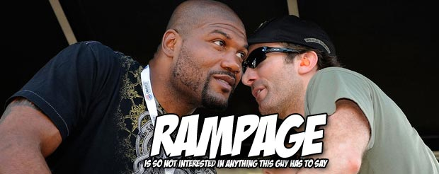 If you're curious what Rampage said to Glover Teixeira at weigh in, you don't have to wonder anymore