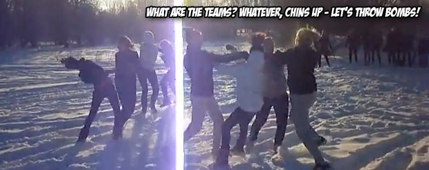 Meanwhile, in Russia, organized teams of women are fighting in the frigid winter