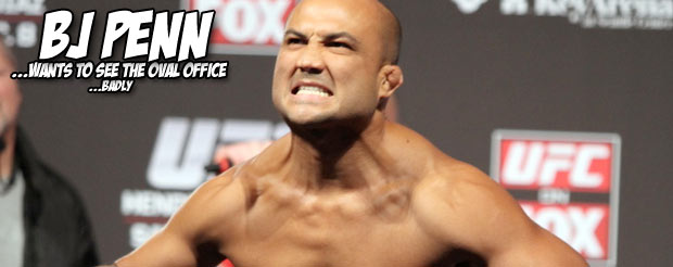 BJ Penn visited the White House and it looked like he had a swell time