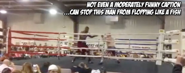 This is one of the worst phantom-punch flops we've ever seen