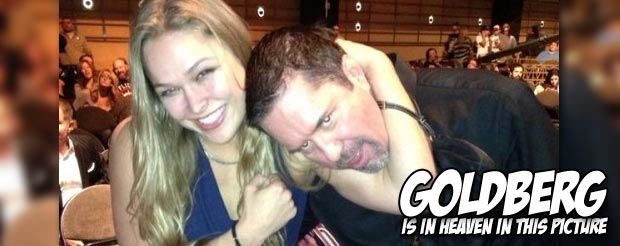 Mike Goldberg's reaction to Ronda Rousey undressing at the UFC 157 weigh-ins is priceless