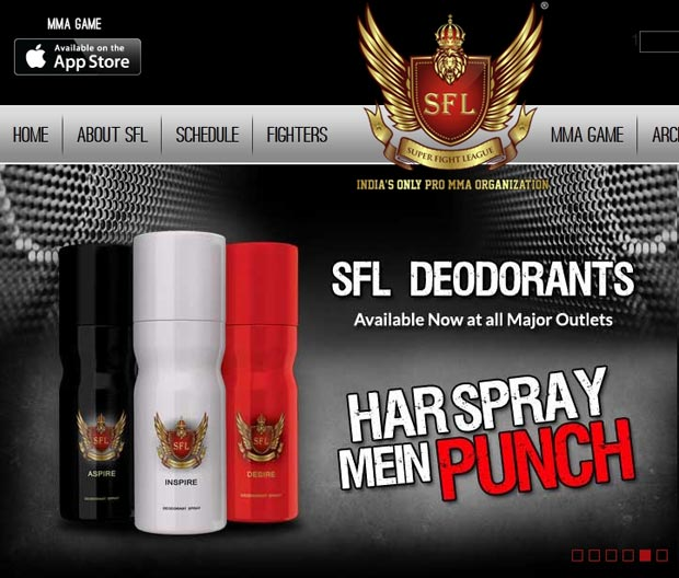 Your armpits are nothing with Super Fight League deodorant