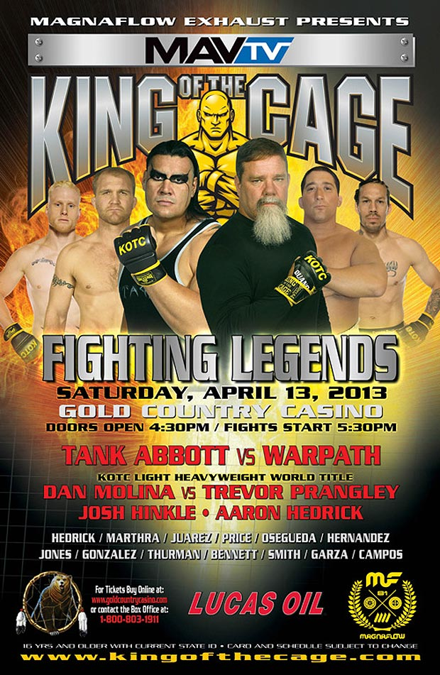 Mother of God, Tank Abbott vs. Warpath is going down April 13th