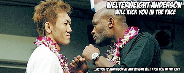 Anderson Silva told Dana White that he could make 170 for the GSP fight, so let's watch his last welterweight bout