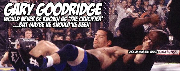 Remember Gary Goodridge's iconic KO of Paul Herrera? Now watch it played out against a soothing wood grain