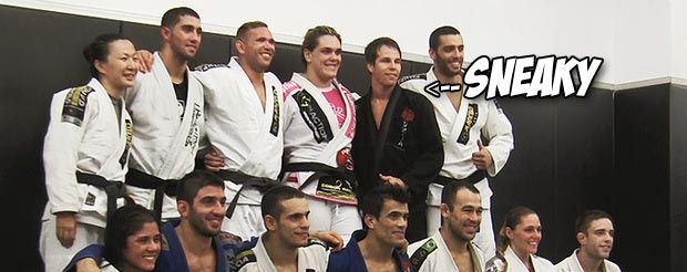 BJJ black belt puts on white belt and then taps EVERYONE in this video