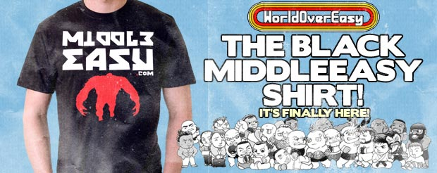 After nearly 4 years, the Black MiddleEasy shirt is FINALLY here!