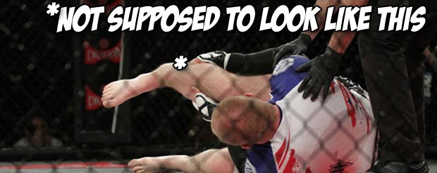 [Warning: GRAPHIC] Watch this Polish guy break his shin bone on some guy's leg in an MMA match
