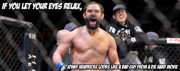 Johny Hendricks says he's a better wrestler and can hit harder than GSP. No mention of a beard-growing challenge