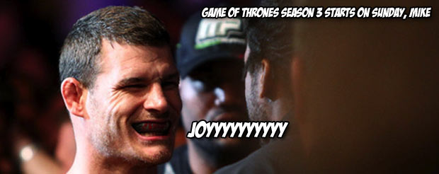 In this video of Mike Bisping rolling with Jake Shields in preparation for Alan Belcher, there are no silly bets made, but you should still watch
