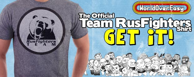 Get the LIMITED-EDITION official 'Team RusFighters' shirt NOW!