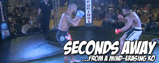 Watch this 5-second head kick KO that's so devastating the guy's hands stay up in the air