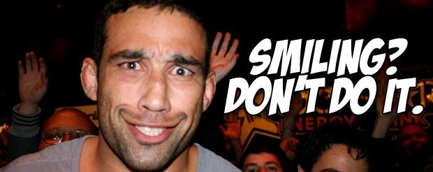 Research now shows that fighters who smile during pre-fight stare downs are more likely to get KTFO