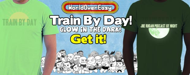 Get the LIMITED-EDITION 'Train By Day' shirt that GLOWS IN THE DARK!