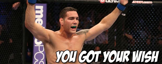 Here it is: Anderson Silva vs. Chris Weidman is going down July 6th at UFC 162