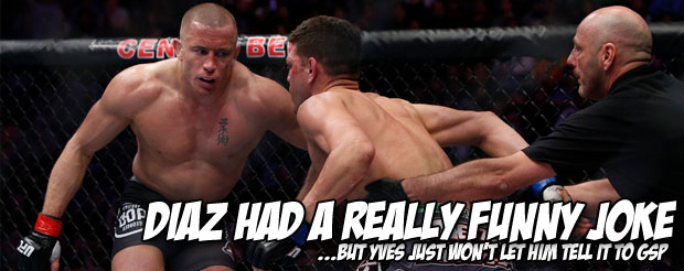 Something tells me you want to watch Georges St. Pierre on today's episode of the Joe Rogan Experience