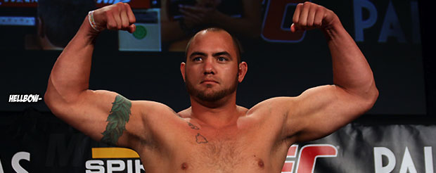 Here's the .GIF of Travis Browne's horrifying elbows to the back of Gabriel Gonzaga's dome