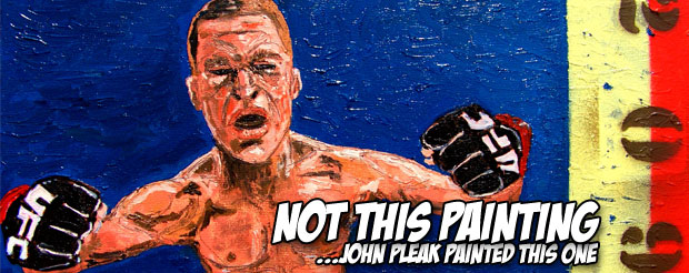 This guy got hopped up on caffeine and painted an entire portrait of Nate Diaz