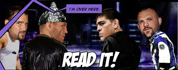 Check out the fourth installment of the 'Sonnen's War' comic featuring Nick Diaz, Randy Couture and Phil Baroni