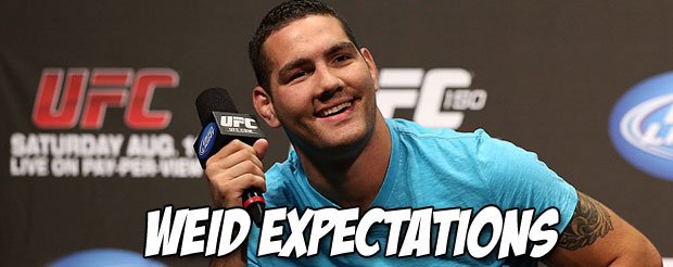 Chris Weidman says Anderson Silva is the best fighter of all time, but he's just a little better
