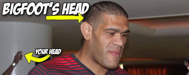 Bigfoot Silva has accused Cain Velasquez of illegal blows to the back of the head, and he even has photos to prove it