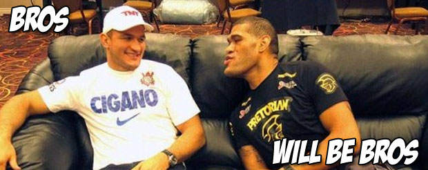 Despite the loss, Bigfoot Silva seemed to enjoy giving JDS wet willies and well… You'll see