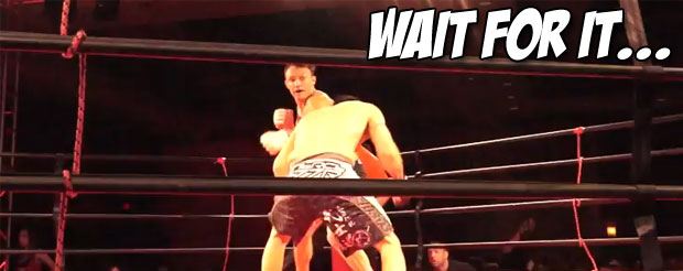 Watch the greatest right hook to face plant combo you will see today
