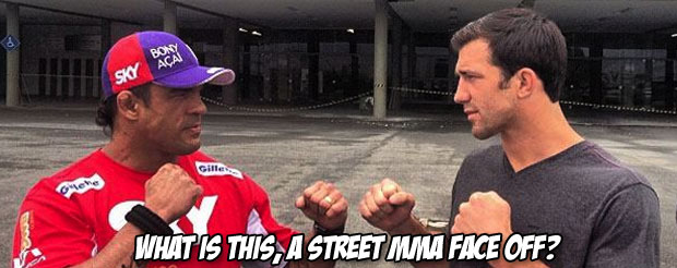 Luke Rockhold said he didn't like Vitor's fist to face weigh-in pose. Now this happened